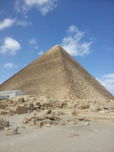 Pyramid at Giza, gold capstone scar evident